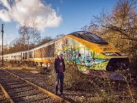 Porzucony pociąg Eurostar.