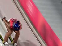 Skok Kamila Stocha dający mu 2. miejsce w kwalifikacjach