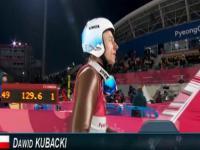 Skok Dawida Kubackiego dający mu 3. miejsce w kwalifikacjach