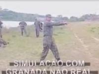 Wojskowe szkolenie z rzutu granatem