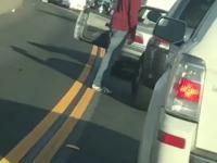 Furia na drodze w hrabstwie San Diego i dynamiczny komentarz pewnej kobiety