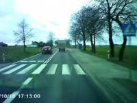 Pędzący kierowca dostaje natychmiastową nauczkę