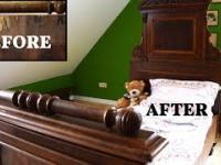 odrobina pracy i ze starocia mamy ładne łóżko