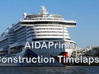 Ładny timelapse z budowy statku AIDAprima