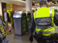 Szwecja - na stacji metra stabilnie.