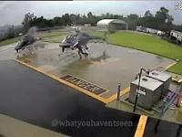 """Dwa policyjne helikoptery """"trącają"""" się wirnikami"""