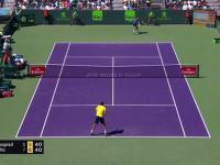 Wspaniał wymiana z meczu Marina Cilicia i Vaska Pospisila podczas ATP Miami