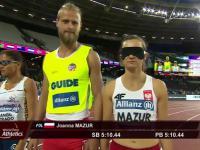 Niewidoma JOANNA MAZUR Złoty Medal w biegu na 1500m