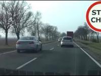 BMW na czołówkę i szybka karma