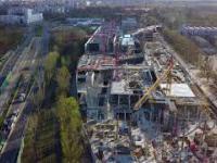 Warszawa Młociny - Budowa Galerii Handlowej