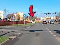 Na skrzyżowaniu (rondzie) pod prąd - Bydgoszcz