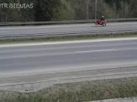 Niebezpieczny wypadek motocyklisty - Chabówka