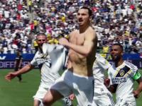 Zlatan Ibrahimović w swoim stylu u Jimmy'ego Kimmela