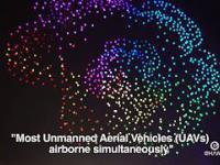1,374 dronów w Chinach układa się w ruchomy ekran