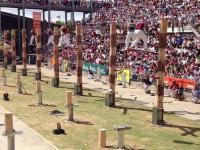 Ciekawa konkurencja w ścinaniu drzew. Finał mistrzostw świata.