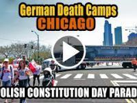 Ciężarówka German Death Camps na paradzie konstytucji 3 maja w Chicago