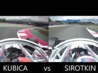 Kubica vs Sirotkin - zachowanie podczas obrotki