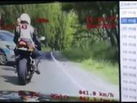 Szalona ucieczka motocyklisty