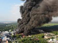 Pożar z drona z wysypiska odpadów Boruta