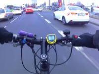 Jazda rowerem elektrycznym 6000w... Po mieście, bez wyobraźni