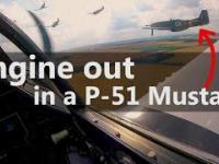 Awaryjne lądowanie samolotu P-51 na polu