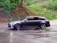 Audi RS6 i szybkie zakończenie driftu