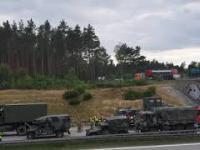 Wypadek amerykańskich żołnierzy na autostradzie A18