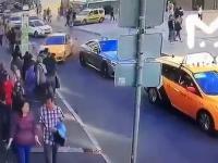 Horror w Moskwie: Taksówkarz wjechał w tłum osób