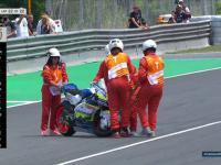 Niezwykły wypadek po zakończeniu wyścigu Moto2