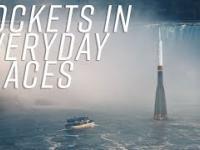 Wizualizacja przedstawiająca najpopularniejsze rakiety, na tle znanych miejsc