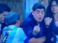 Tak cieszył się Diego Maradona po zwycięskiej bramce Argentyny na mundialu