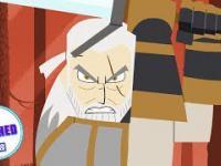 Wiedźmin Geralt w stylu Samuraja Jacka