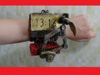 Prawdziwy, działający zegarek w stylu steampunk