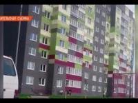 Złapali dzieciaka spadające z siódmego piętra