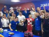 Tak pani prezydent Chorwacji świętowała z piłkarzami awans do finału MŚ2018