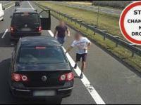 Szeryf w Vanie na S7 - zajechał drogę i wyhamował VW-gena