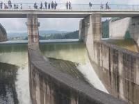 Niedzica, zrzut wody z Jeziora Czorsztyńskiego