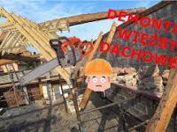 Rozbiórka starej więźby dachowej