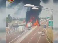 Wypadek cysterny we Włoszech.