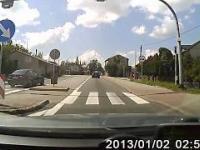 KRA 1575J - Czarne BMW - Młody Baniak próbuje ostro przycwaniaczyć