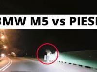 BMW M5 - system ostrzegania o pieszych