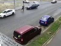Musnął go samochód