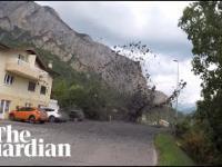 Lawina błotna w szwajcarskiej wiosce