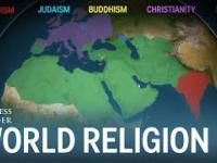 Animacja przedstawiająca jak różne religie rozprzestrzeniały się po świecie