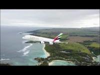 Startujący Airbus nagrany z drona