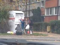Cyganie okradają kontener Wrocław