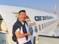 Sam Chui testuje linie Air Zimbabwe