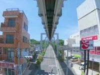 Spektakularne zwiedzanie Tokio - widok z podwieszanej kolejki miejskiej