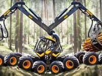 Maszyna do cięcia drzewa Intelligent Technology. Transport Ogromne dzienniki