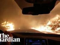 Dramatyczna ucieczka w przerażającym pożarze, Kalifornia, kilka dni temu